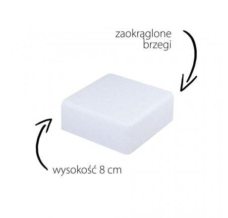 Styropian do tortów 22 cm atrapa kwadrat