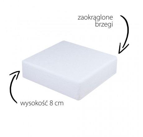 Styropian do tortów 40 cm atrapa kwadrat