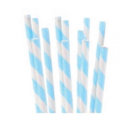 Patyczki do POP CAKE biało niebieskie papierowe 24 szt. 30744 Modecor