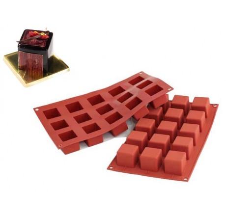 SF105 Forma silikonowa SMALL CUBE kwadraty 15 szt. 36.105.00.0060 Silikomart