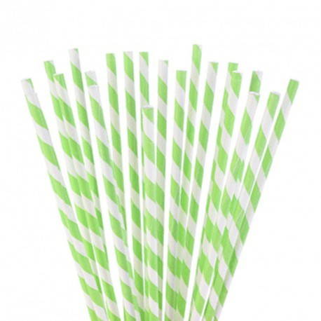 Patyczki do POP CAKE biało nzielone papierowe 24 szt. 30742 Modecor