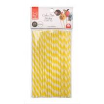 Patyczki do POP CAKE biało żółte papierowe 24 szt. 30743 Modecor