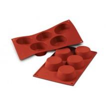 Forma silikonowa SF023 Medium MUFFIN na 6 porcji Silikomart 10.023.00.0000