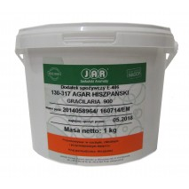 1kg AGAR HISZPAŃSKI 850 substancja żelujaca roślinna E406 JAR