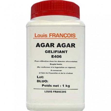1kg AGAR AGAR (E406) roślinna substancja żelująca Louis Francois