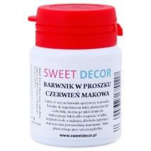 8g Barwnik CZERWIEŃ MAKOWA spożywczy w PROSZKU Sweetdecor