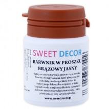 8g Barwnik BRĄZOWY JASNY spożywczy w PROSZKU Sweetdecor