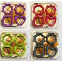 KP5105 Zestaw 4 wykrawaczy do ciastek 4 kolory Emporte-pieces