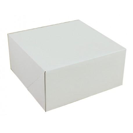 Kartonik klapowy biało-brązowy 180x180x90 mm