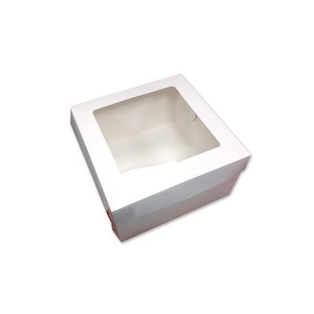 Kartonik na tort 220x220x110 mm z okienkiem