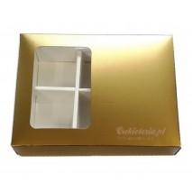 1 szt. Pudełko na 6 szt. pralin 65x105x45 mm ZŁOTE MAT