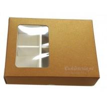 1 szt. Pudełko na 6 szt. pralin 65/105/45 mm MIEDZIANE