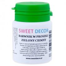 8g Barwnik ZIELONY CIEMNY spożywczy w PROSZKU Sweetdecor