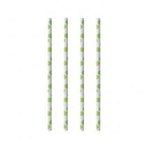100 szt Rurki Papierowe GREEN DOTS 20 cm 6 mm średnicy 85569 Papstar