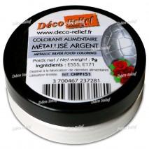 9 g CHPP151 Barwnik Metalizowany SREBRO Deco Relief