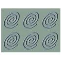 GG010 Forma silikonowa Owalne spirale Pavoni