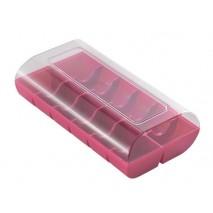 MCR01 Pudełko plastikowe na makaroniki BRĄZOWE Silikomart