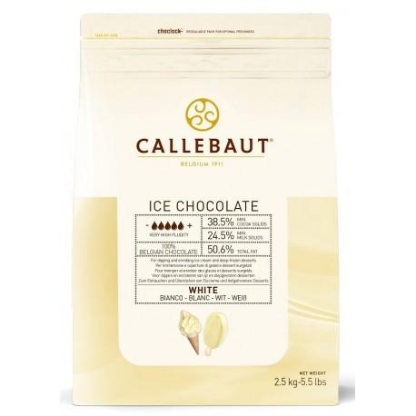 2,5kg ICE CHOCOLATE WHITE 38,5% ICE-50-WNV-552 Biała czekolada do lodów Callebaut