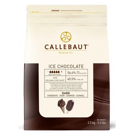 2,5kg ICE CHOCOLATE DARK 56,4% ICE-45-DNV-552 Ciemna czekolada do lodów Callebaut