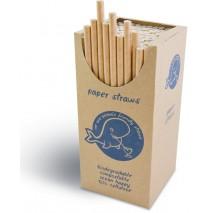 250 szt. RURKI PAPIEROWE BRĄZOWE 6/205mm Biodegradowalne