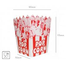 100 szt. KARTONIK/KUBEK na Popcorn MAŁY 70x115x90 mm (kolory)