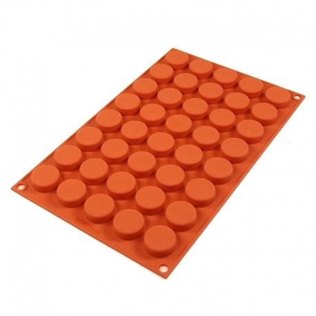 SF180 Forma silikonowa PASTILLE na 40 mini porcji ∅27xh11 mm Silikomart