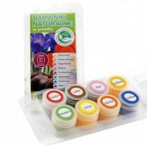 Zestaw barwników NATURALNYCH 8 kolorów NAT-P-01 Food Colours