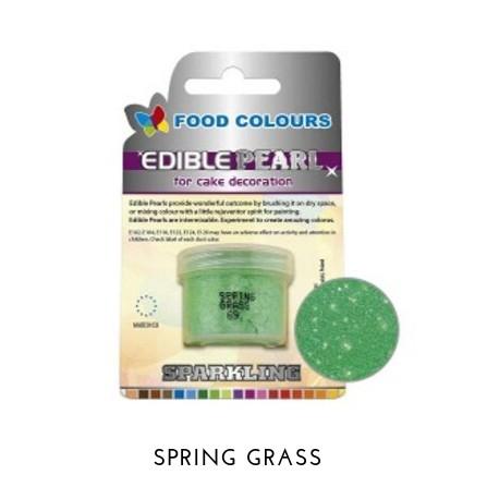 4,1g Pudrowy PERŁOWY Barwnik spożywczy SPRING GRASS (Zielony jasny) P069 Food Colours