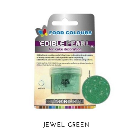3,5g Pudrowy PERŁOWY Barwnik spożywczy JEWEL GREEN (Zielony ciemny) P072 Food Colours