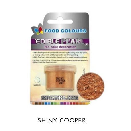 3,6g Pudrowy PERŁOWY Barwnik spożywczy SHINY COOPER (Miedziany) P020 Food Colours