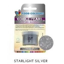 4,1g Pudrowy PERŁOWY Barwnik spożywczy STARLIGHT SILVER (Srebrny ciemny) P110 Food Colours