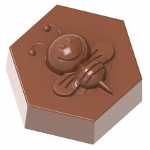 Forma do Pralin PSZCZOŁA Bee on Hexagon 1858CW Chocolate World