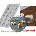 GG018 PUZZLE Forma silikonowa do dekoracji Pavoni