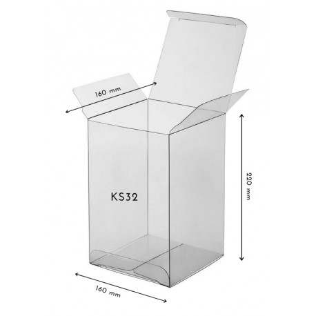 1 szt. KS32 Pudełko TRANSPARENTNE 160/160/220 mm Pavoni