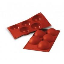 SF001 Forma silikonowa HALF SPHERES półkule 5 szt. 30.001.00.0060 Silikomart