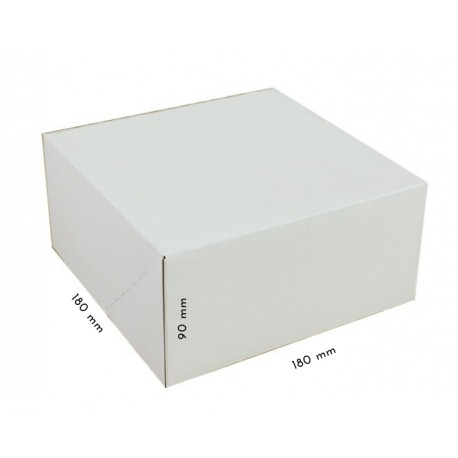 1 szt. Kartonik klapowy biało-brązowy 180/180/90 mm