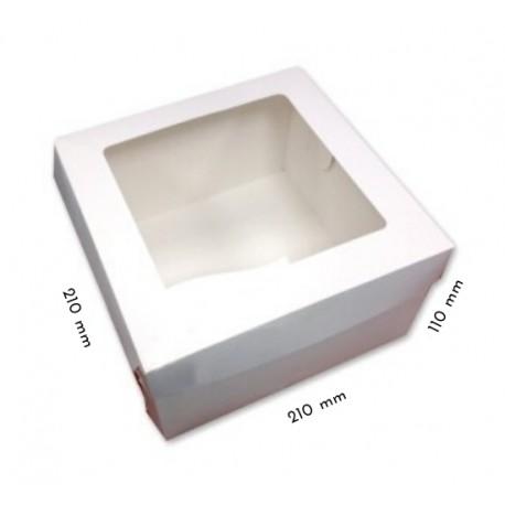 1 szt. Kartonik na tort 220/220/110 mm z okienkiem