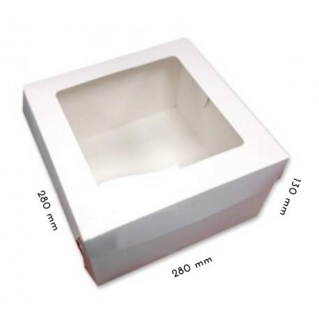 1 szt. Kartonik na tort 280/280/130 mm z okienkiem