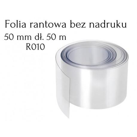 R010 Folia Rantowa 50mm dł. 50m PRZEZROCZYSTA bez nadruku