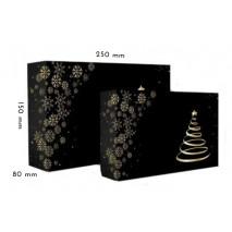 1 szt Pudełko Świąteczne Choinka CZARNE 250/150/80 mm LIV