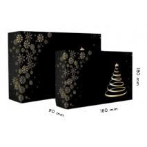1 szt Pudełko Świąteczne Choinka CZARNE 180/180/90 mm LIV
