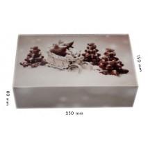 1 szt Pudełko Świąteczne ZIMOWE PIERNIKI 250/150/80 mm LIV