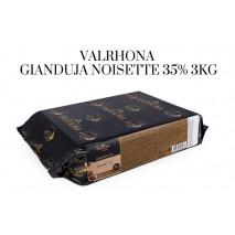 3kg Czekolada MLECZNA ORZECHOWA w bloku GIANDUJA NOISETTE 35% V6993 Valrhona