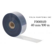 Folia rantowa z czystego Rhodoidu h 40 mm/dł. 100 m F000049 IBC