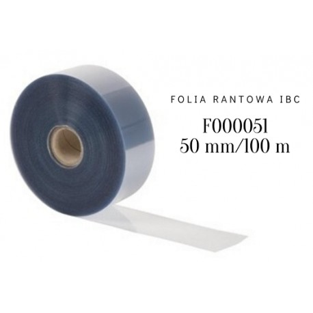 Folia rantowa z czystego Rhodoidu h 50 mm/dł. 100 m F000051 IBC