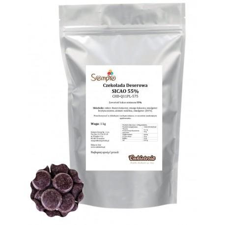 1kg Czekolada CIEMNA/DESEROWA CHD-Q11PL-575 SICAO 55% Barry Callebaut