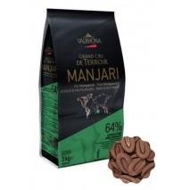3kg Czekolada CIEMNA w kaletkach MANJARI 64% V4655 Valrhona