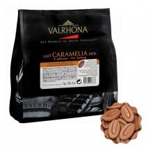1kg Czekolada MLECZNA KARMELOWA w kaletkach CARAMELIA 36% V12390 Valrhona