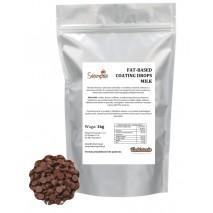 1kg FAT-BASED COATING DROPS MILK drobne dropsy z MLECZNEJ czekolady (polewa niewymagająca temperowania) Dawn