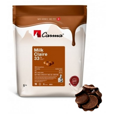 5kg Czekolada MLECZNA Milk Claire 33% CHM-P007CLARE6-Z72 Carma